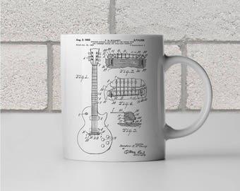 Gibson Les Paul McCarty Guitar Patent Art Mug Gift, Gibson Shirt, Les Paul shirt, Guitar Shirt, Les Paul guitar, Guitarist Gift