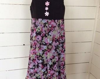 Size 10/12 Girls upcycled dress
