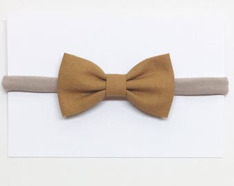 Bows for Hair - Antique Gold - Hair Bows - Clips or headbands