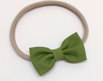Little Girl Bows - Spring Green - Girl Bows - Clips or headbands