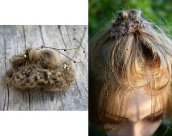 Chignon/human hair/ 100%handmade in Italy /hair accessories/hair piece/