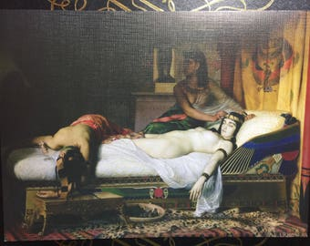 The Death of Cleopatra by Jean Andre Rixens Print