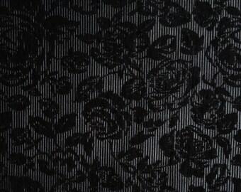 Brocade cotton black and silver lurex