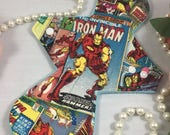 "10"" Light Absorbency Cotton Top Cloth Pad/Mama Cloth/Rumps/Incontinence Care Pads in Iron Man Print with Fleece backing"