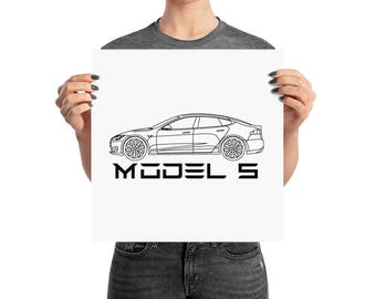 Tesla Motors Model S Wall Art Poster