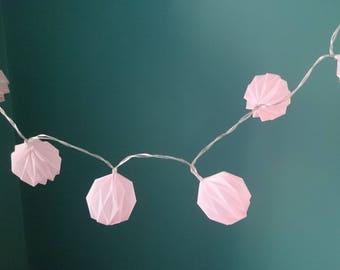Origami lantern fairy lights