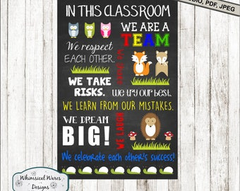 Teacher svg, Classroom svg, classroom rules svg, back to school svg, digital download .studio3 file svg eps ai dxf pdf files all included