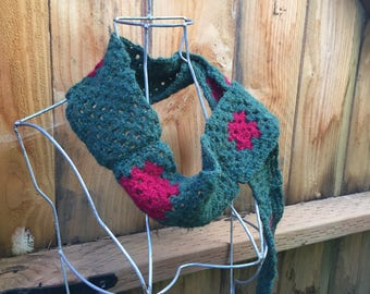 Portland Thorns Granny Square Scarf