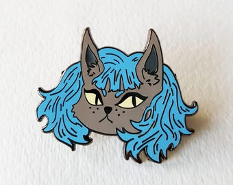 Cat Girl Enamel Pin