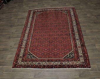Stunning Allover S Antique Hossainabad Persian Area Rug Oriental Carpet 6ʹ6X9ʹ8