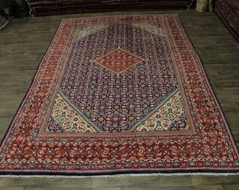 Fanciful S Antique Hand Knotted Mahal Arak Persian Rug Oriental Area Carpet 9X14