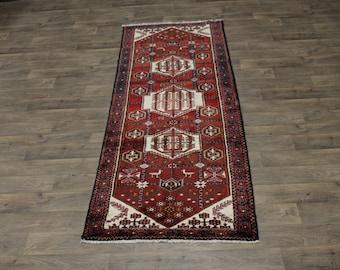 Tribal Runner Handmade Dorzajan Hamedan Persian Rug Oriental Area Carpet 3ʹ6X9ʹ5