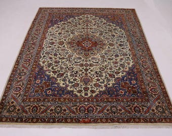 Exceptional Classic Design Signed Kashmar Persian Rug Oriental Area Carpet 10X13