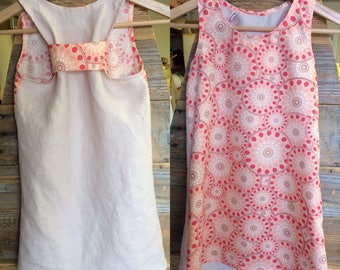 Washed linen and cotton fabric summer dress.