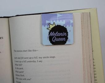 Melanin Queen  |  Magnetic Bookmark  |  Cute  | Bookmarks  |  Black Girl |  Afro