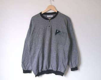 On Sale! Playboy Button Sweatshirt Pocket Streetwear Playboy Big Logo Spell Out Hip Hop Style Large Size
