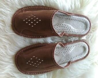 Men's House Slippers | Handmade men shoes |  Leather slippers | slippers | gift