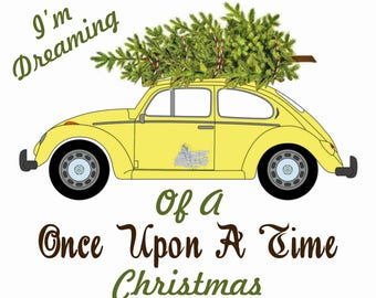 INSTANT DOWNLOAD Once Upon A Time Christmas Shirt Transfer Iron On