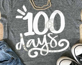 100th day of school svg, 100 days svg, teacher 100th day, teacher svg, DXF, EPS, 100 days of school,  slayed svg, hundredth day svg