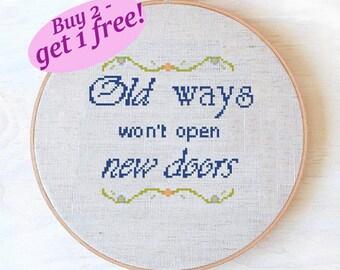 Cross stitch pattern quote, modern cross stitch pattern easy cross stitch, buy 2get 1 free,little cross stitch pattern