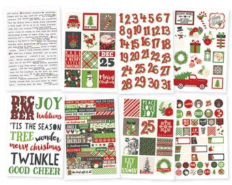 Simple Stories Very Merry 4x6 Sticker pack