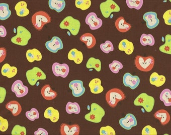 Happy Lovely Apples on a brown background