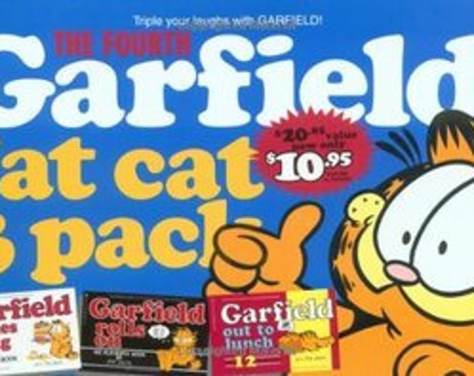 Garfield Fat Cat 3-Pack #4 by Jim Davis Weighs Makes it big/rolls on/out 2 lunch