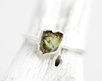 READY to SHIP. US Size 6. Silver Electroformed Pink Watermelon Tourmaline Ring. Tourmaline Ring. Electroformed Ring. Unique Rings for Her.