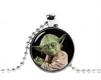 Yoda Necklace Master Jedi Star Wars Necklace Fandom Jewelry Necklace Pendant Geeky Fangirl Fanboy