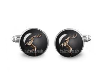 House Baratheon Cuff Links Game of Thrones Cuff Links 16mm Cufflinks Gift for Men Groomsmen Novelty Cuff links Fandom Jewelry