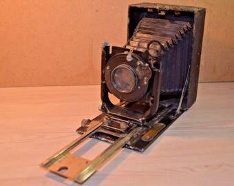 Vintage soviet film folding camera FOTOKOR