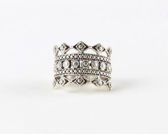 Sterling Silver Crown Ring / Silver Crown Ring / Royal Ring / WSR32