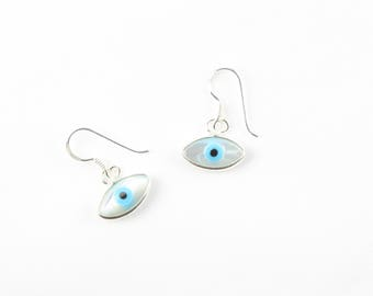 Sterling Silver Evil Eye Earrings / Evil Eye Earrings / Goodluck Earrings / WS234