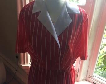Vintage striped St Michael 80s dress