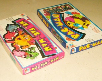 Vintage Pac Man And Ms. Pac Man Board Games  *****1980's*****