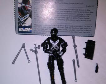 Vintage GI Joe Action Figure Snake Eyes  ***1980's-Early 1990's****** Check Out My other Listings