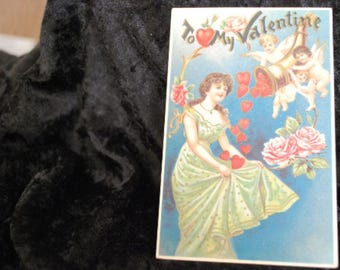 "1106 - Vintage Postcard - Early 1900's - ""To My Valentine""  (Made in Germany)"