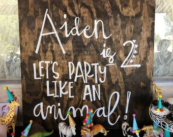 Party animal sign decor