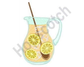 Lemonade Pitcher - Machine Embroidery Design
