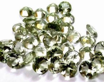 10 piece 10mm Green amethyst faceted round gemstone, 100% natural 10mm amethyst Round faceted loose gemstone, Green Amethyst Faceted