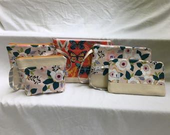 Custom-made zippered pouch, 6 sizes