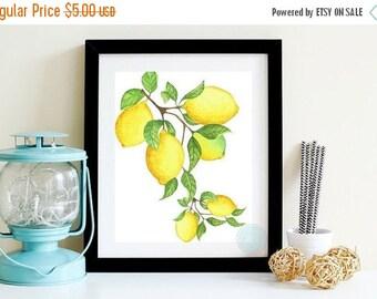 25% OFF SALE- KITCHEN Art Fruit Art Lemon Wall Print Lemon Printable Citrus Kitchen Print Citrus Print  Lemon PrintModern Farmhouse Art Kitc