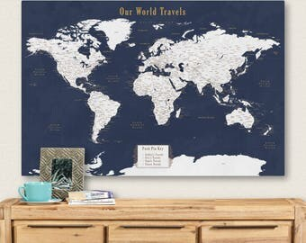 World map notice board cork world map world map pin board world map of the world push pin map canvas push pin world map canvas world map gumiabroncs Choice Image