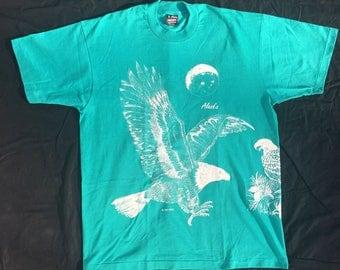 Vintage Alaska Tourist Eagles T-shirt 90s