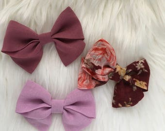 Floral Bows | Sailor Bows | Fabric Bows | Pinwheel Bows | Bow Sets | Bow Bundles | Nylon Headbands | Baby Girl Bows