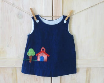 Blue dress 2t khaki