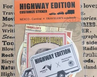NEXCO-Central x of Traveler's Notebook Highway Edition Customize Sticker Set 07100-121 TRAVELER'S COMPANY Rare Made in Japan Free Shipping