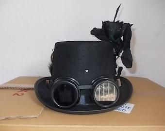 Gothic Hut. Hat. Schwarz Zylinder. Githic Deko. Size 56