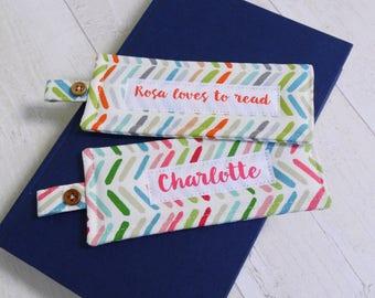 Handmade bookmark - fabric bookmark - bookmark - gift for children - teacher gift - mother's day gift - stocking filler