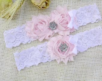 Soft Pink Garter, White Lace Garter, Pink Bridal Lingerie, Flower Pink Garter, Pink Bridal Set, Lace Garter Pink, Garters, White Keep Garter